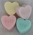 Fingerspelled Love Candy Heart Soap