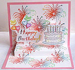 birthday popout card